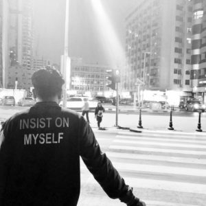 Insist on myself_bw