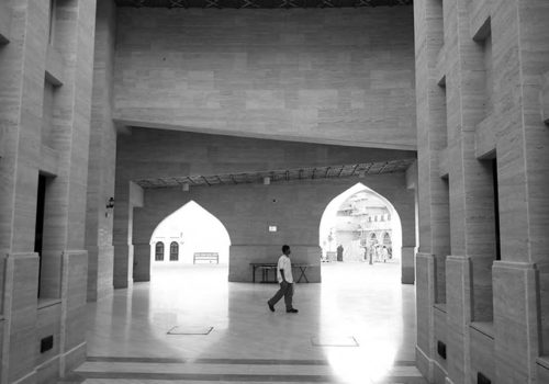 Entry to amphitheater at Katara Village, Doha