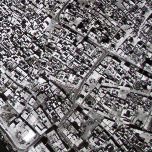Detail of aerial, Deira, Dubai, 1968