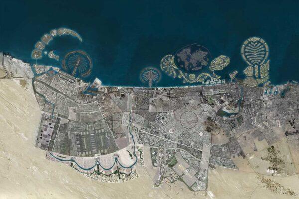 Image  Nakheel's proposed photomosaics, circa 2010.
