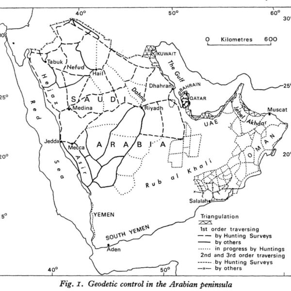 """Source: Leatherdale, John, and Roy Kennedy. """"Mapping Arabia.""""The Geographical Journal141, no. 2 (1975): 240–51."""