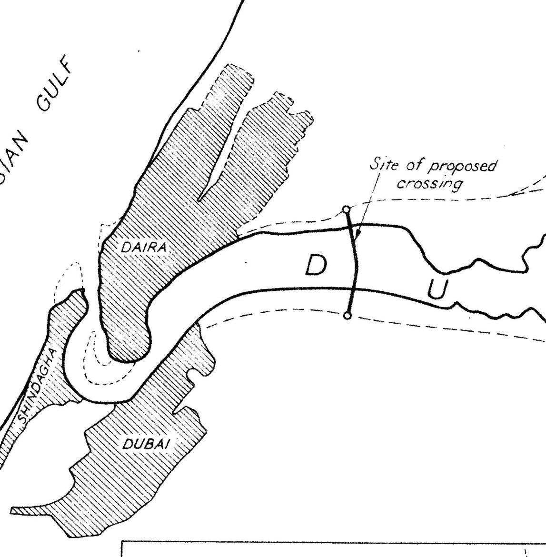 Halcrow Study for Dubai Harbour Crossing, 1960.